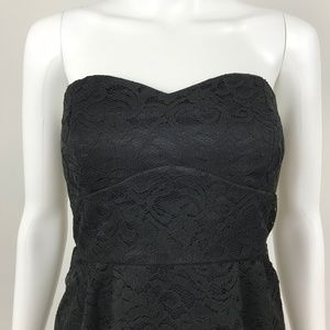 As U Wish Black Lace Party Cocktail Dress